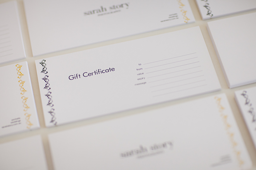 Portrait Gift Certificates